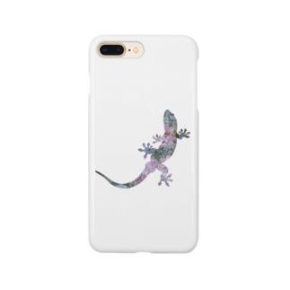 ニホンヤモリ×紫陽花 Smartphone cases