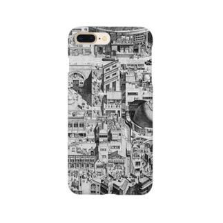 鉛筆画 「東山芸術大学」 Smartphone cases