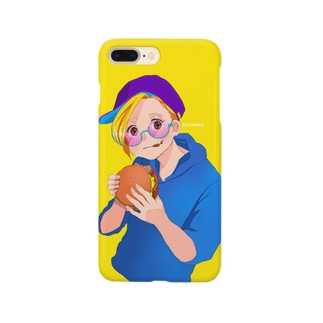 Hamburger girl Smartphone cases