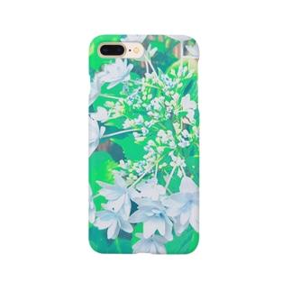 ガクアジサイ 青 Smartphone cases