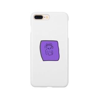 パープルガール Smartphone cases