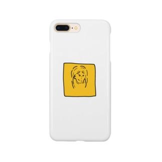 イエローガール Smartphone cases