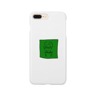 グリーンガール メガネの女の子 Smartphone cases