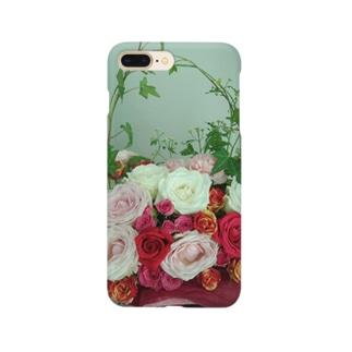 バラのアレンジメント Smartphone cases