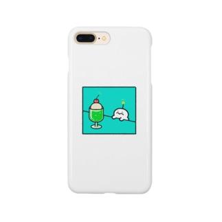クリームソーダとぷりぷりうちゅうじん Smartphone cases