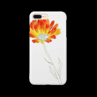 砂まみれの金盞花 Smartphone cases