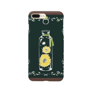向日葵とペリドット Smartphone cases