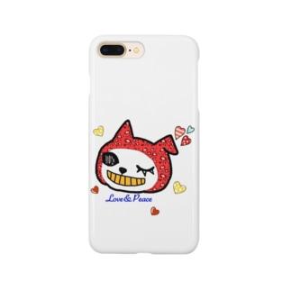 LovePeaceねこかぶりちゃん Smartphone cases