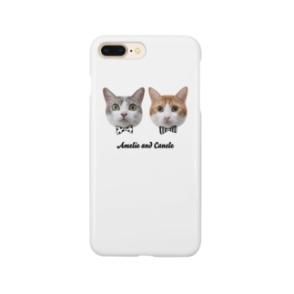 Twins Cats Amelie and Canele Smartphone cases