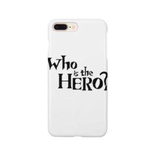 Who is the HERO? ロゴ(黒文字) Smartphone cases