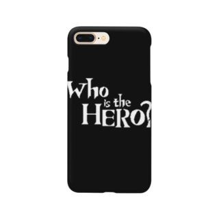 Who is the HERO? ロゴ(白文字) Smartphone cases