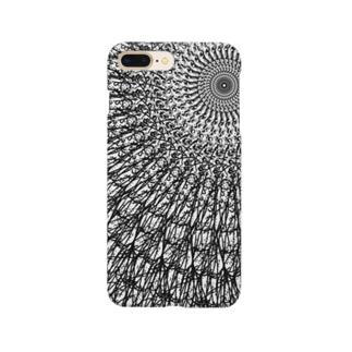 回転対称 白黒 Smartphone cases