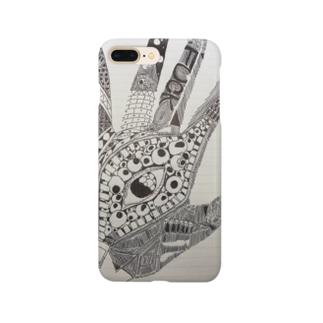 手書きの手 Smartphone cases