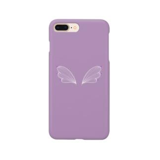 天使の羽ラベンダー Smartphone cases