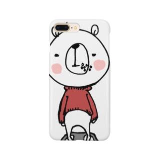 食いしん坊くま Smartphone cases