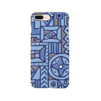 マルサンカクシカク_ブルー Smartphone cases