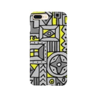 マルサンカクシカク_グレー Smartphone cases