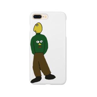 顔プリントセーター着てる人 Smartphone cases