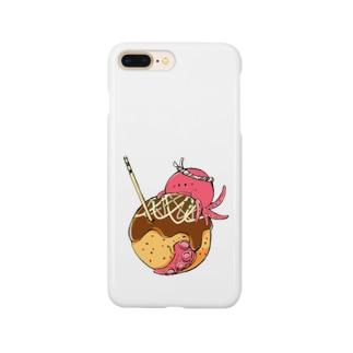 たこ焼き食べるタコ Smartphone cases