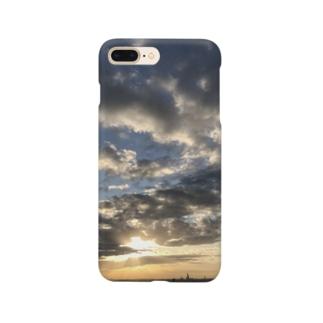 ある霜月の夕暮れ Smartphone cases
