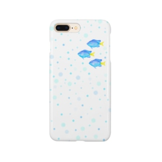 【海水魚】シリキルスズメダイと水玉 Smartphone cases