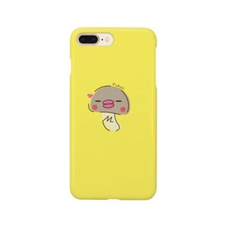 ズッキュンまつたけさん Smartphone cases