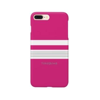 ガールな横縞 Smartphone cases
