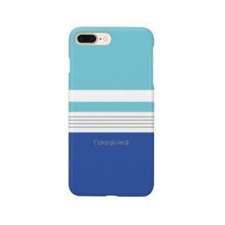 ボーイな横縞 Smartphone cases