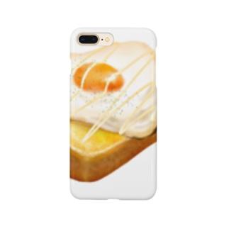 目玉焼きパンンンン Smartphone cases