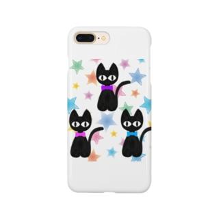 黒猫三兄弟 星バージョン Smartphone cases