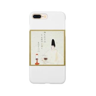 サイフォニスト少将(百人一首コーティング仕様) Smartphone cases