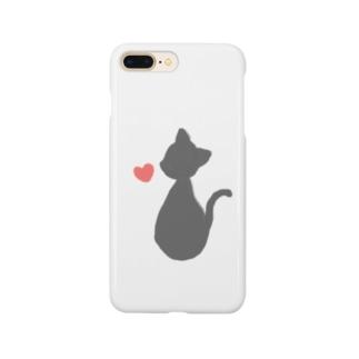 ネコとハート1 Smartphone cases