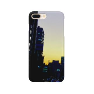 都会の夕暮れスマホケース Smartphone cases