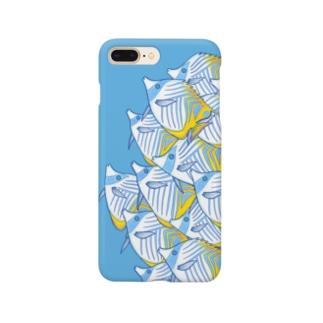 【海水魚】チョウチョウウオの群れ Smartphone cases