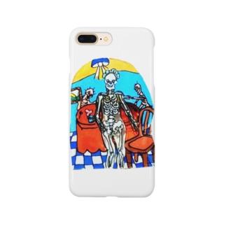 ガイコツメイドさん Smartphone cases