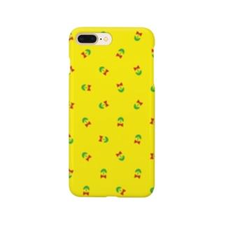 リボンの携帯ケース(黄) Smartphone cases