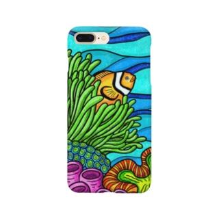 【海水魚】隠れるカクレクマノミ(カラー) Smartphone cases