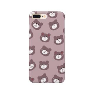 大人ピンクなくまさん Smartphone cases