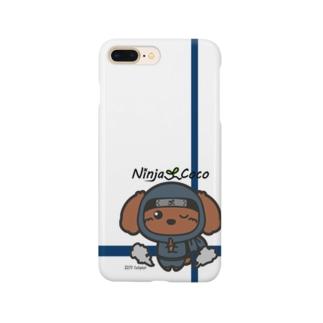 忍者トイプードルの志ちゃん どろんっっ Smartphone cases
