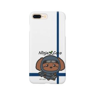 忍者トイプードルの志ちゃん 手裏剣っっ Smartphone cases
