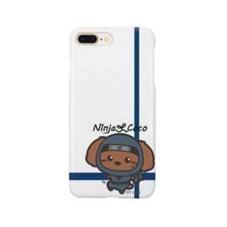 忍者トイプードルの志ちゃん 忍び足~っっ Smartphone cases