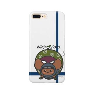 忍者トイプードルの志ちゃん むささびっっ Smartphone cases