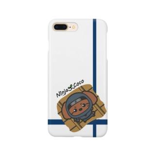 忍者トイプードルの志ちゃん 天ぺたっっ Smartphone cases