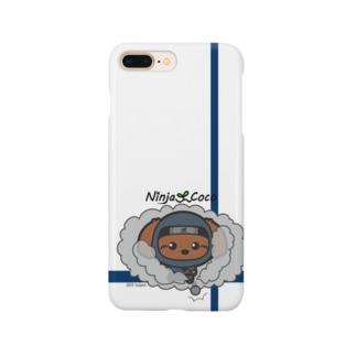 忍者トイプードルの志ちゃん ぼむっっ Smartphone cases