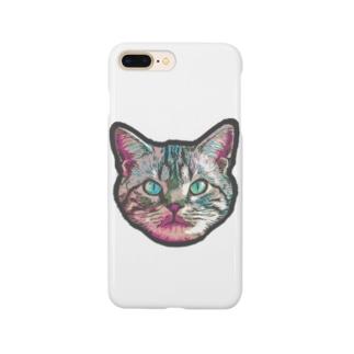 色彩キャット(ピンク) Smartphone cases