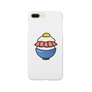 目玉焼き丼15【ローストビーフ】 Smartphone cases