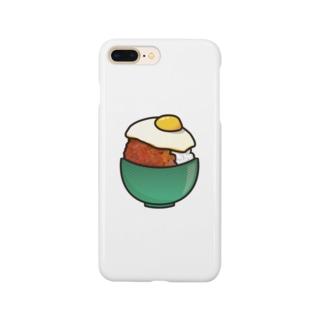 目玉焼き丼16【そぼろ】 Smartphone cases