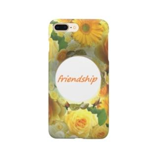 薔薇のリース イエロー friendship Smartphone cases