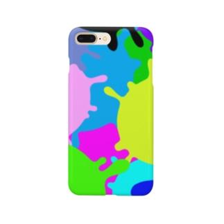 カラフル スミー柄 Smartphone cases
