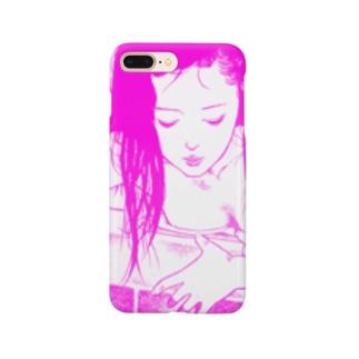 プールサイドレディー Smartphone cases